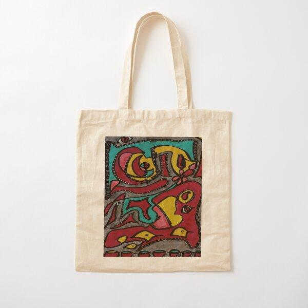 Abstract Birds Cotton Tote Bag