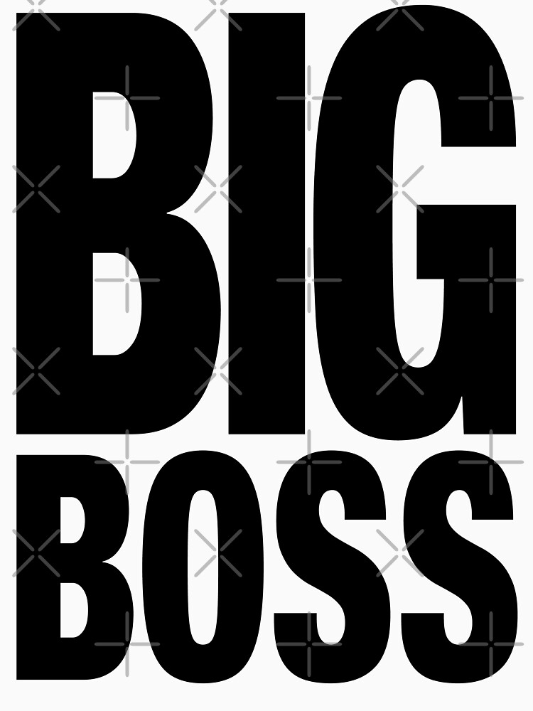 BIG BOSS (Black) | Unisex T-Shirt