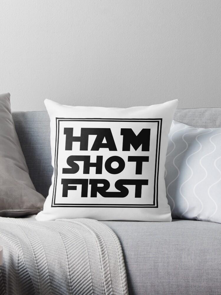 Ham Shot First - Black by yabamena