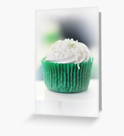 ice coconut cupcake Greeting Card