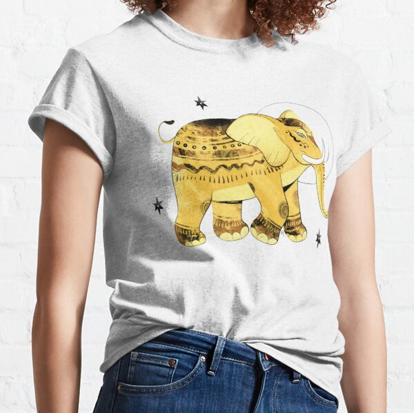 Goldener Elefant Classic T-Shirt