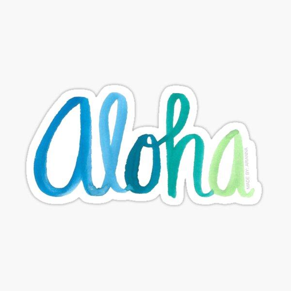 Aloha Watercolor Design Sticker