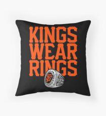 Giant Amongst Kings Throw Pillow