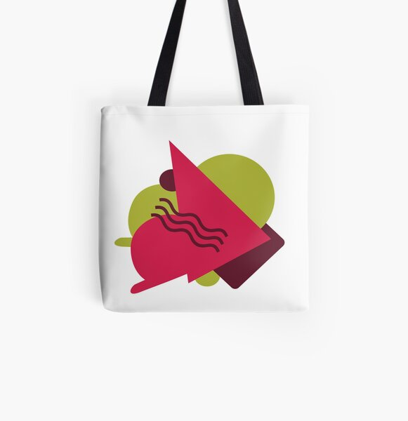 Green Pink Geo Style All Over Print Tote Bag