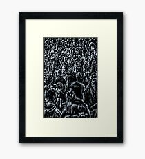 Lost in a sea of humanity Framed Print