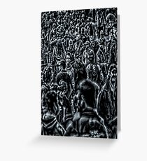 Lost in a sea of humanity Greeting Card