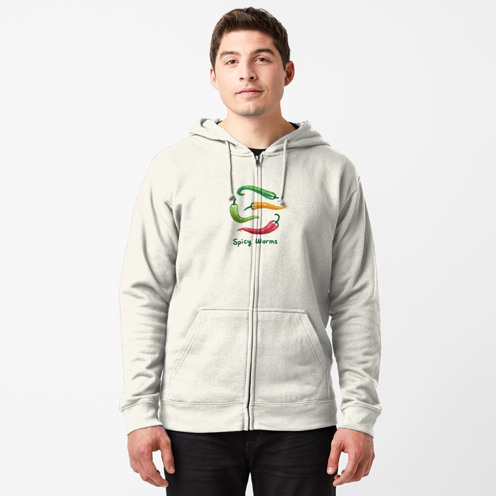 Spicy Worms Zipped Hoodie