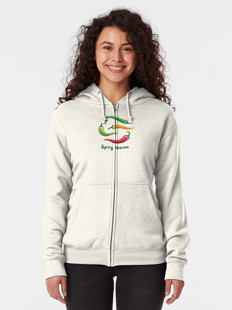 Alternate view of Spicy Worms Zipped Hoodie