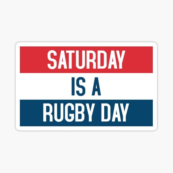 El sábado es un día de rugby Pegatina