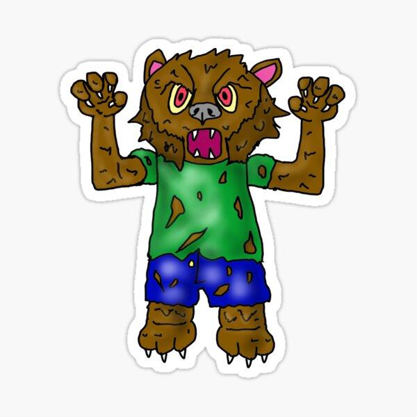 Wally The Werewolf Sticker
