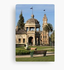 View of Soldiers Memorial Hall and Post Office Canvas Print