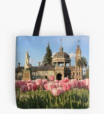 View of Soldiers Memorial Hall and Post Office Tote Bag