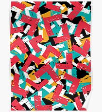 Abstract grunge hipster pattern design Poster