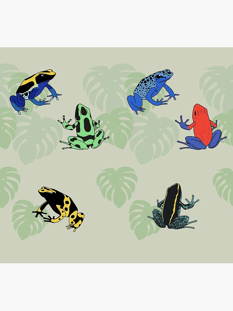 Poison Dart Frogs by ArtByBreah