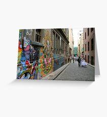 a Melbourne laneway Greeting Card