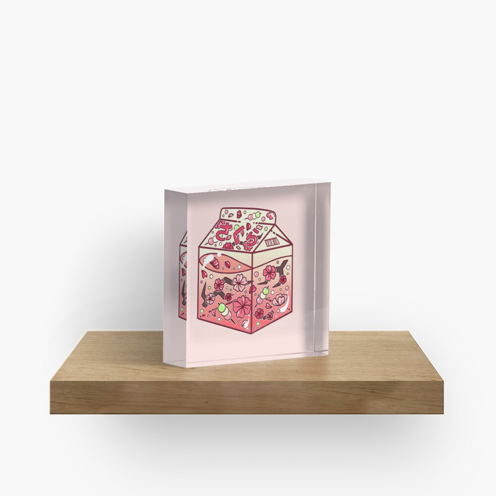 Glass Sakura Carton Acrylic Block