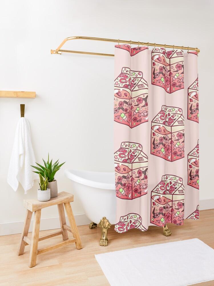 Vista alternativa de Cortina de ducha Cartón de cristal de Sakura