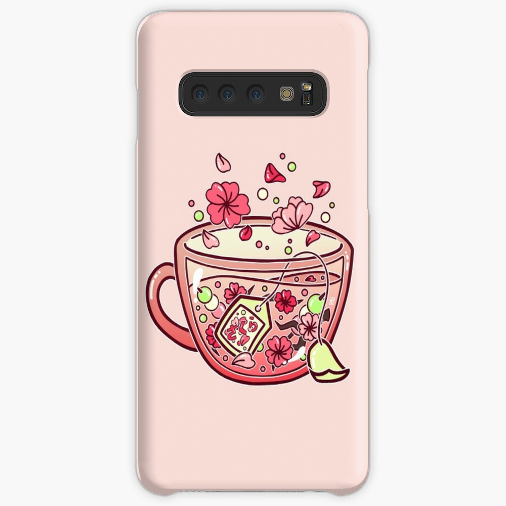 Glass Sakura Tea Funda y vinilo para Samsung Galaxy