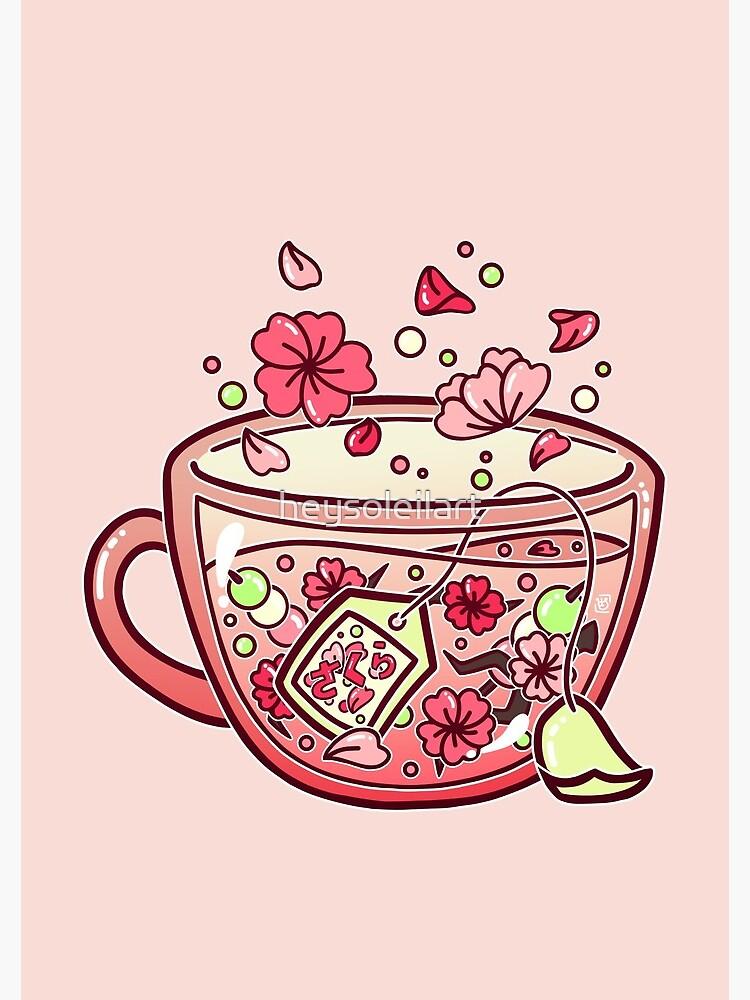 Glass Sakura Tea de heysoleilart