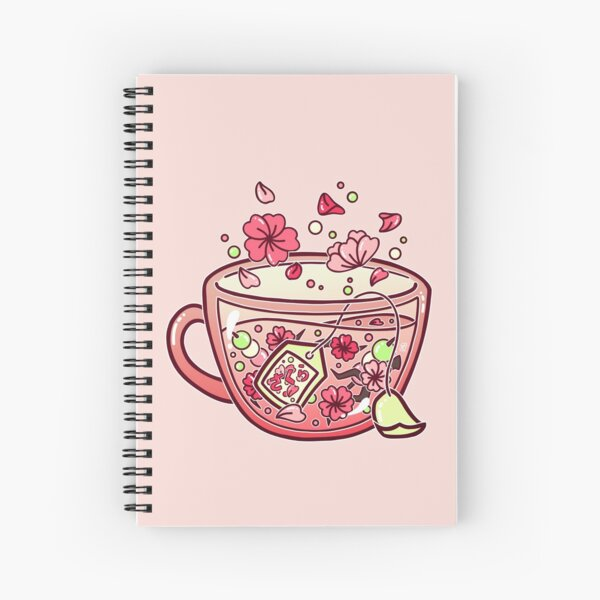 Glass Sakura Tea Spiral Notebook