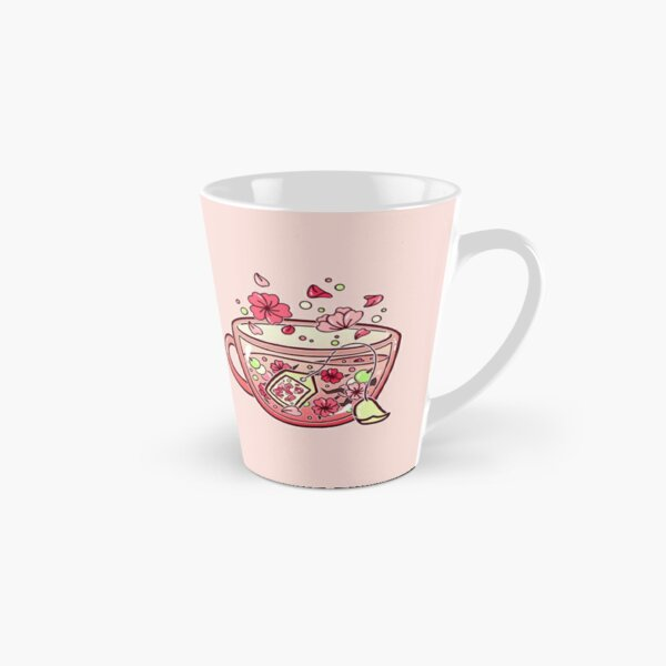 Glass Sakura Tea Tall Mug