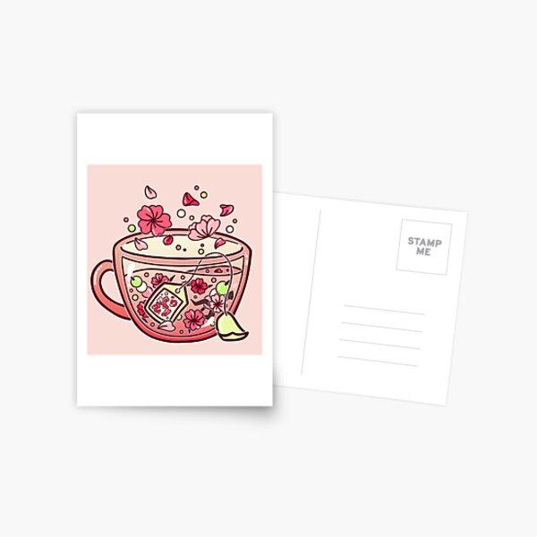 Glass Sakura Tea Postal