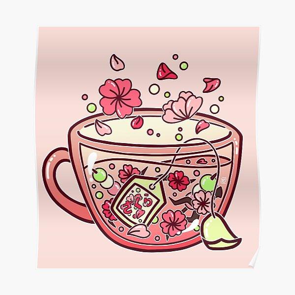 Glas Sakura Tee Poster