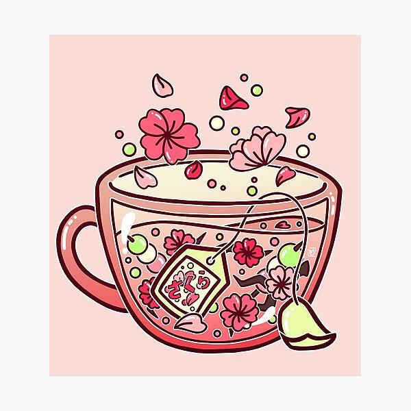 Glass Sakura Tea Photographic Print