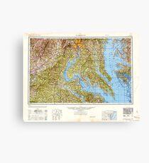 USGS Topo Map District of Columbia DC Washington 707833 1948 250000 Canvas Print
