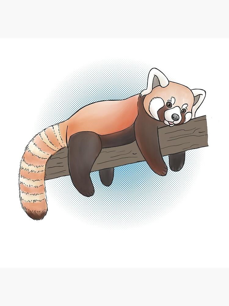 Red Panda On A Limb by ArtByBreah