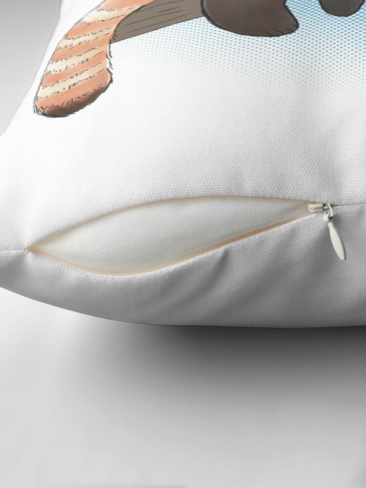 Alternate view of Red Panda On A Limb Throw Pillow