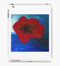 Surfing Aloha Hibiscus Flower by LindaGLarsenArt iPad Case/Skin