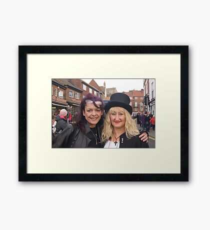 The Goth Weekend at Whitby, Oct 2011. 19 Framed Print