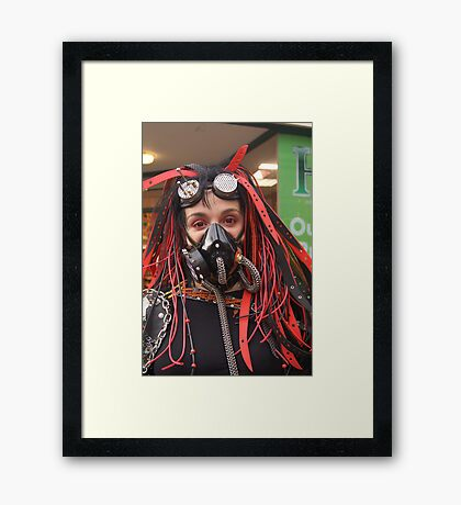 The Goth Weekend at Whitby, Oct 2011. 20 Framed Print