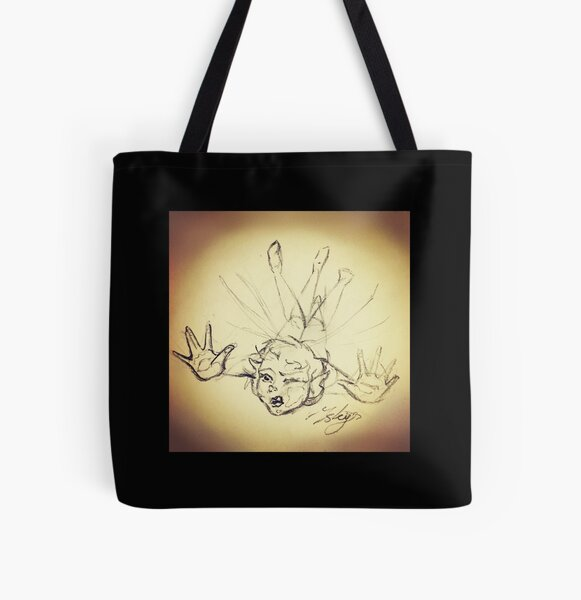Clumsy Fairy Sketch All Over Print Tote Bag
