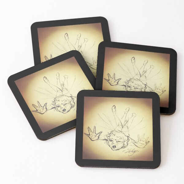 Clumsy Fairy Sketch Coasters (Set of 4)