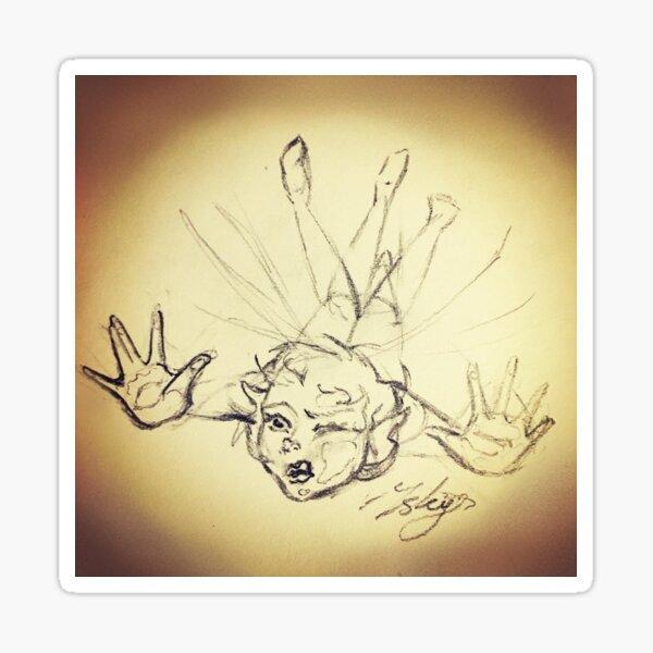 Clumsy Fairy Sketch Sticker