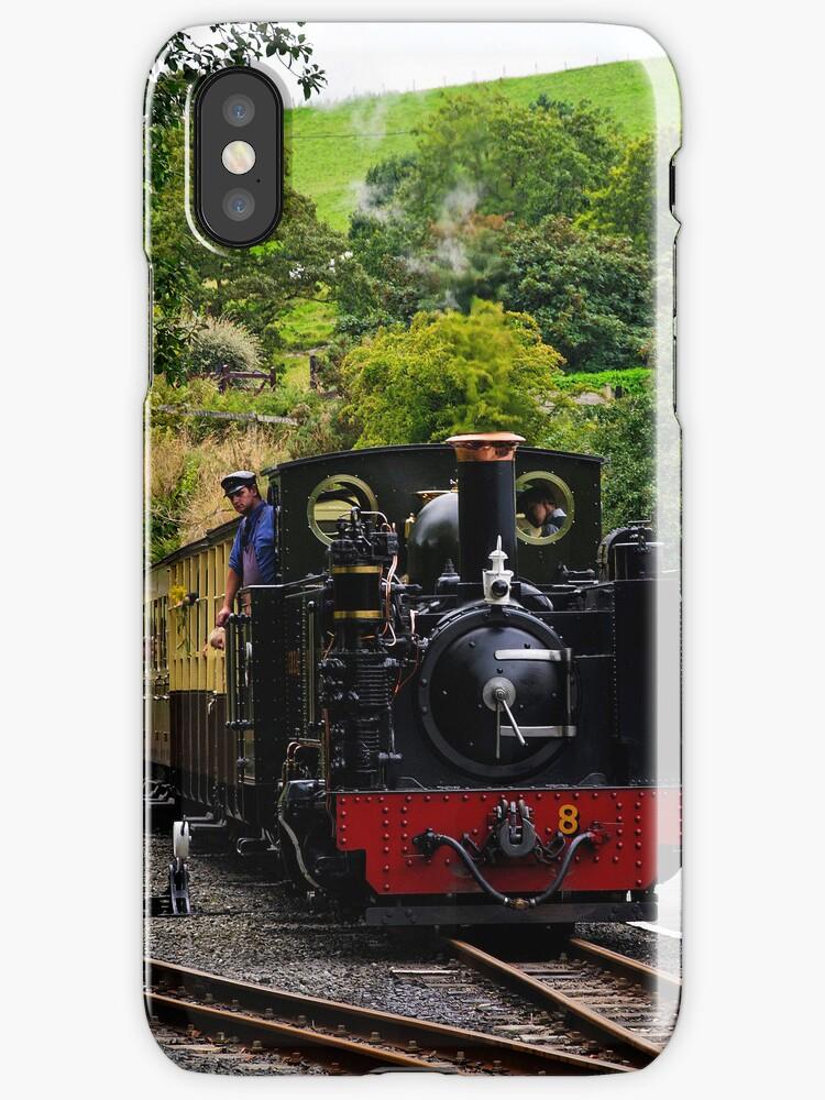 iphone case Vale of Rheidol Railway, Wales  by David Carton