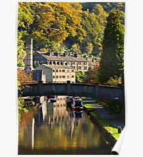 Hebden Bridge in Autumn Poster