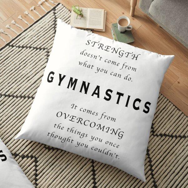 Gymnastics Inspirational Quote Floor Pillow