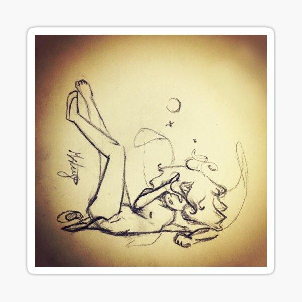 Hungover Fairy Sketch Sticker