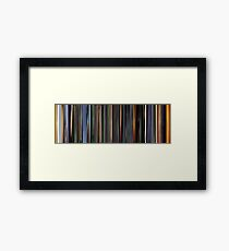 Moviebarcode: The Animatrix 3 The Second Renaissance Part II (2003) Framed Print