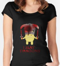 I Slay Dragons! Women's Fitted Scoop T-Shirt
