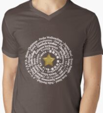 Merry Christmas Different Languages - White design Men's V-Neck T-Shirt