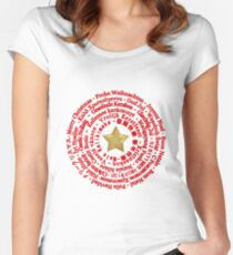 Merry Christmas in Different Languages Women's Fitted Scoop T-Shirt