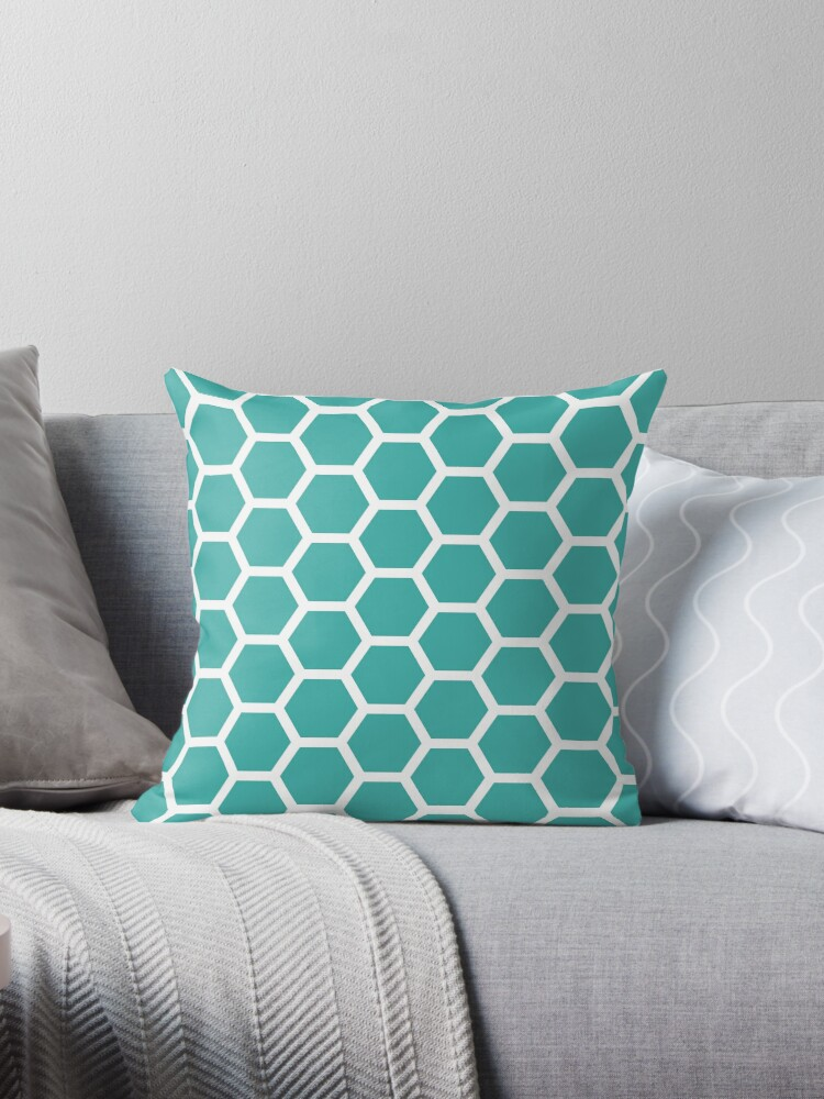 Teal Honecomb Pattern by ImageNugget