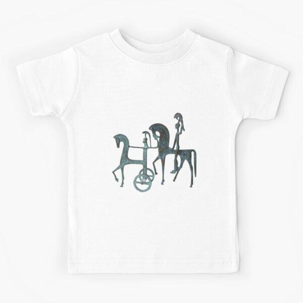 #Etruscan #Trojan #Horse and #Warrior Sculptures Kids T-Shirt