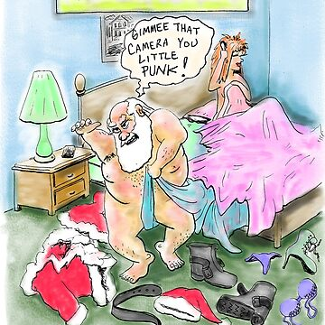 Santa gets Busted! Christmas card by weirdpuckett