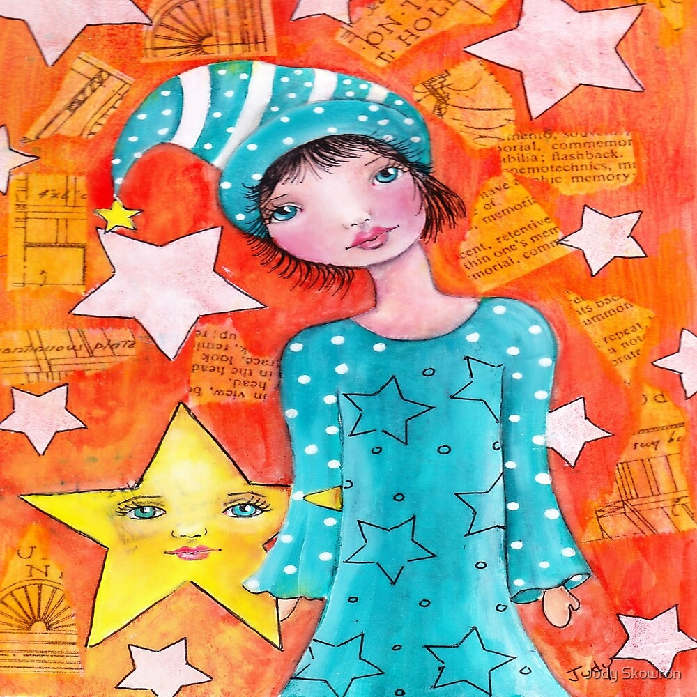 Whimsy Girl with Star by Judy Skowron