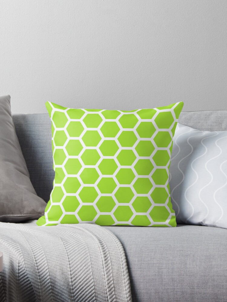 LimeGreen Honecomb Pattern by ImageNugget